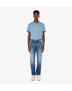 Jeans AMI PARIS Straight Fit Used Blue