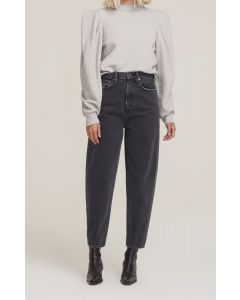 Jeans AGOLDE Balloon Ultra High Rise Curved Taper Black Tea