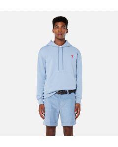 Kapuzensweater AMI PARIS Ami de Cœur Light Blue