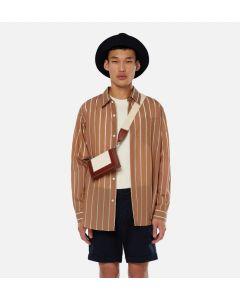 Hemd AMI PARIS Striped Summer Fit Shirt Brown