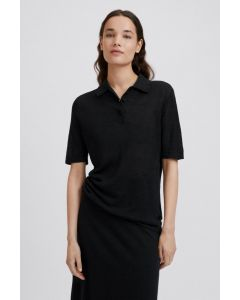 Poloshirt FILIPPA K Angeline Knit Top Black