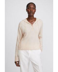 Pullover FILIPPA K Chiara Knitted Hoodie Soft Beige