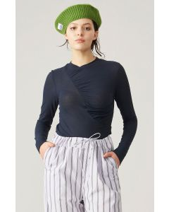 Shirt GANNI Organic Cotton Quilted Long-Sleeve Tee