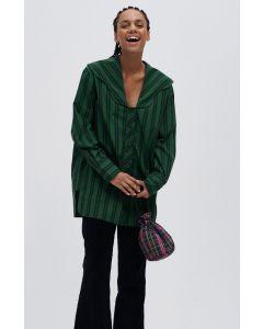 Bluse GANNI Organic Cotton V-Neck Shirt