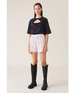 Shorts GANNI Seersucker Check Shorts