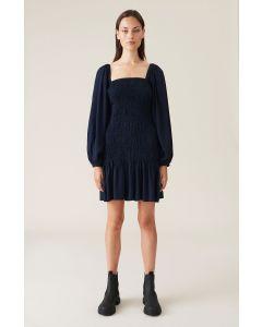 Kleid GANNI Long-Sleeve Shirred Mini-Kleid