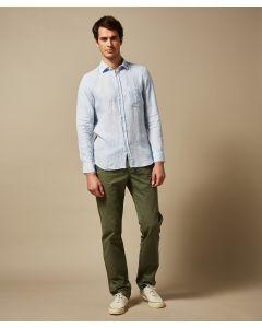 Hemd HARTFORD Denim Fil-a-Fil Linen Storm Shirt