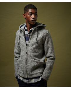Jacke HARTFORD Grey Wool Hoody Jacket