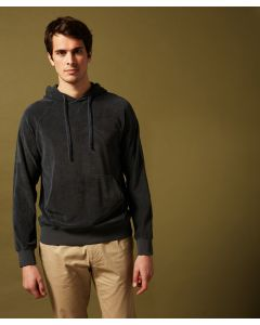 Sweater HARTFORD Dark grey towelling hoody