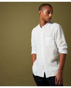 Hemd HARTFORD Linen premium granddad-collar shirt White