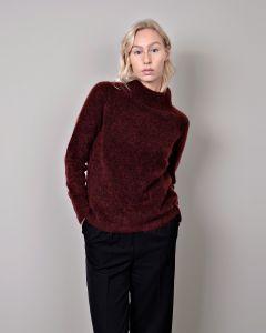 Pullover JOHNNY LOVE Reba Burgundy Mohair