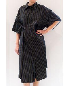 Kleid MM6 Gestreiftes Hemdkleid
