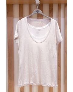 Shirt MAJESTIC Double T-Shirt Pearl