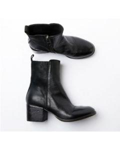 Schuhe MOMA Tronchetto Donna Montone Lux + Hunter Nero