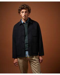 Jacke HARTFORD Navy Double-Face Wool Jay Jacket