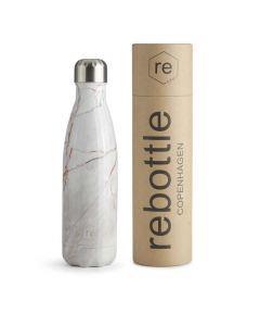 Trinkflasche REBOTTLE COPENHAGEN 500ml Marble Nude