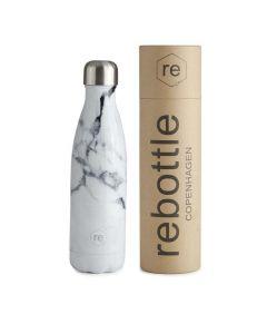 Trinkflasche REBOTTLE COPENHAGEN 500ml Marble White