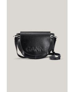 Tasche GANNI Banner Saddle Bag Black