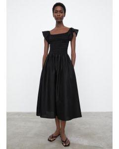 Kleid TOTÊME Tea Length Smock Dress Black