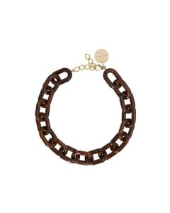 Halskette VANESSA BARONI Easy Piece Necklace Wood Marble
