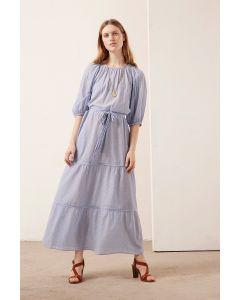 Kleid VANESSA BRUNO Reinilda Blanc Bleu